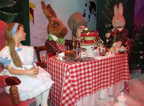 Alice In Wonderland in Santa's Grotto The Victoria Centre Llandudno North Wales