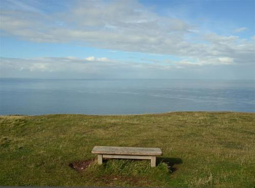 Great Orme bench view Llandudno North Wales