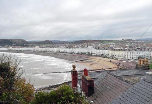 Llandudno Promenade and hotels North Wales