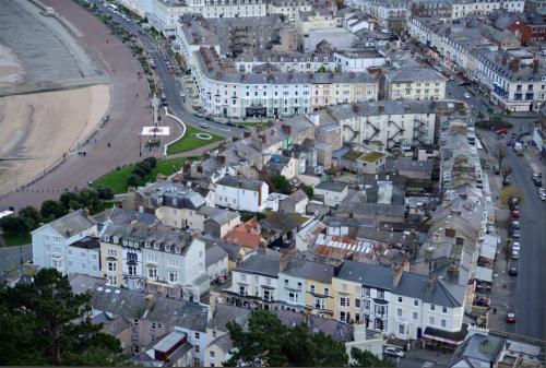 Llandudno promenade and town North Wales