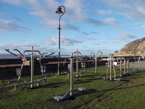 Gym equipment West Shore Llandudno North Wales