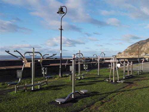 Gym equipment West Shore Llandudno North Wales