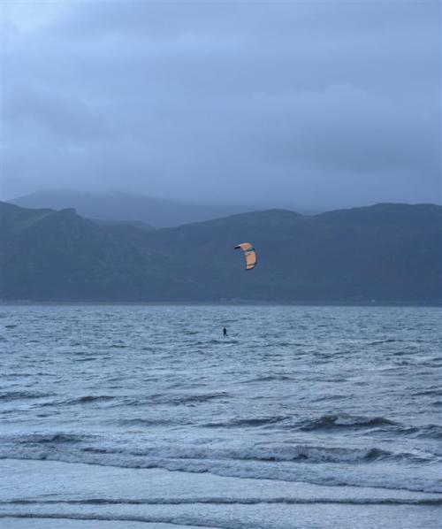 Kitesurfer on the West Shore Llandudno North Wales