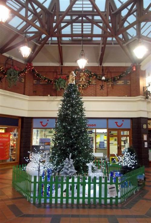 Victoria Centre Christmas Tree and Decorations Llandudno North Wales