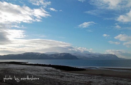 Snow on the beach West Shore Llandudno