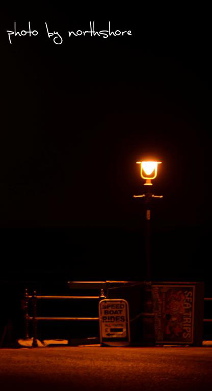Lamp on Llandudno promenade