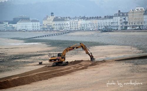 Llandudno beach work
