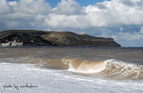 Stormy sea Llandudno