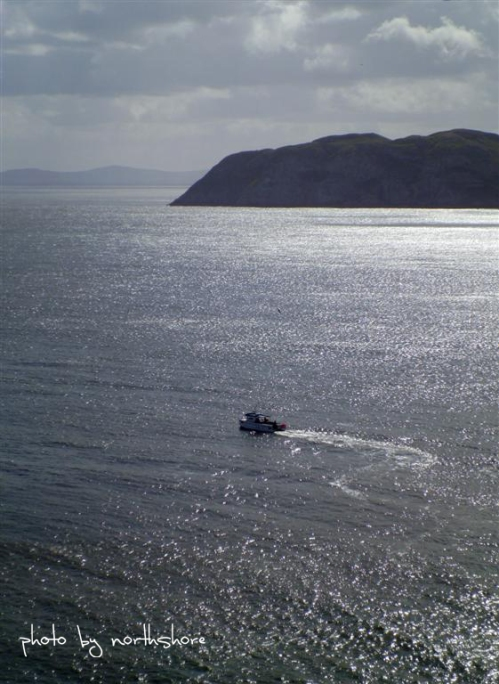 Picture of a boat in Llandudno Bay