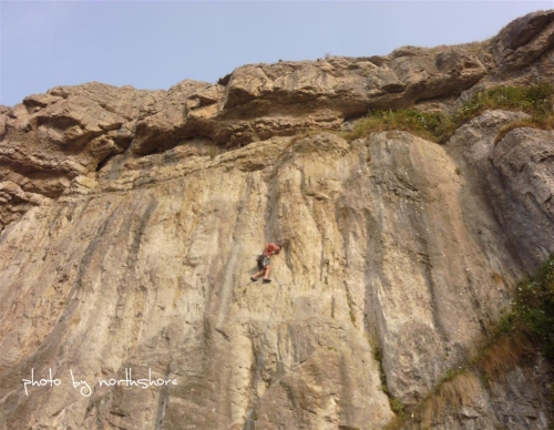 Picture of rock climbing on the Great Orme Llandudno
