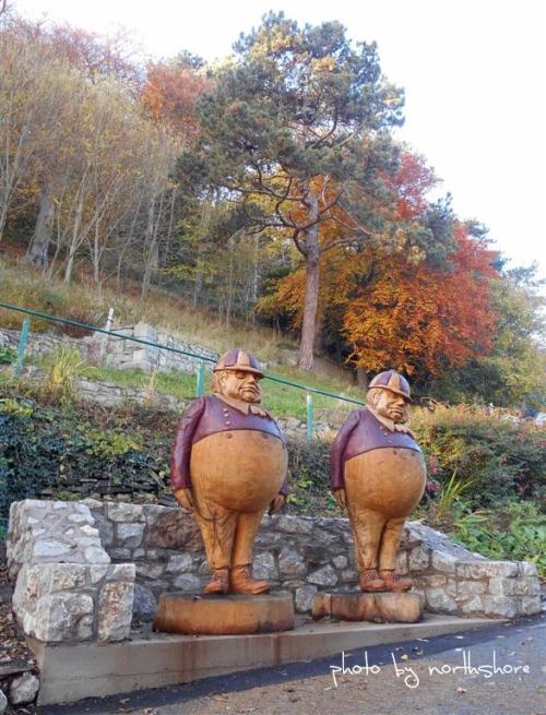 Tweedle Dum and Tweedle Dee Haulfre Gardens Llandudno