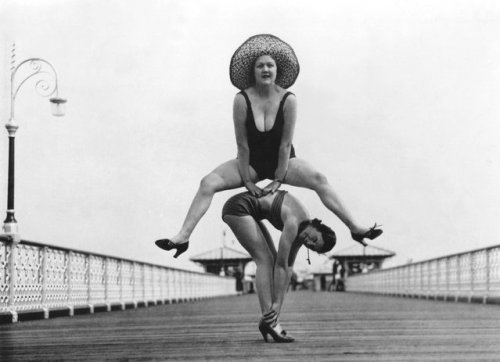Vintage picture llandudno pier