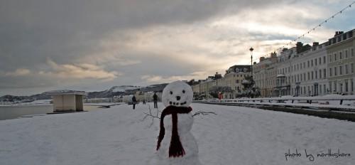 Llandudno Promenade Snowman (Large)